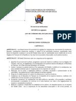 Ley de Turismo Sancionada 2007 Zulia