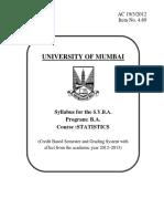 Syllabus of Stats