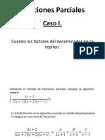 Fracciones Parciales Caso I
