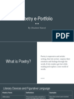 poetry e-portfolio assignment 2