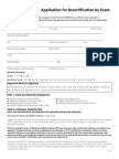 Recertification by Exam Application March 2014