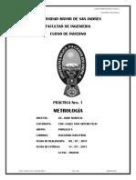 Inf. Practica 1 - Metrologia