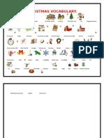 Christmas Vocabulary Total