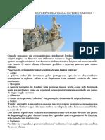 40 Palavras de Origem Portuguesa Usadas Em Todo o