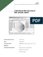 MODULO DE APRENDIZAJE EXCEL 2003 - 3GRADO