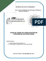 Plan de Curso de Capacitación en Topografia Automatizada