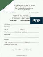 Ficha Pre Matricula Internado