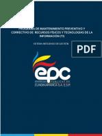 Programa de Mantenimiento Preventivo o Correctivo de Recursos Fisicos y TI