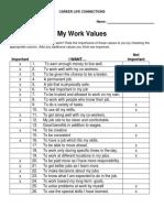 my work values clc 15