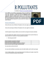 E6 - Water - Pollutants Database Activity