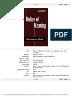 David Mc Nally - Bodies Meaning