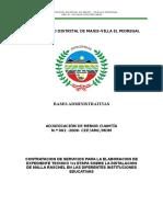 CONTRATACION DE SERVICIOS PARA LA ELABORACION DE EXPEDIENTE TECNICO 1ra ETAPA SOBRE LA INSTALACION DE MALLA RASCHEL EN LAS DIFERENTES INSTITUCIONES EDUCATIVAS