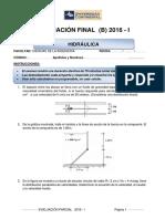 Examen Final - Hidraulica (b)