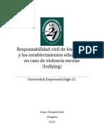 LOPEZ Ezequiel - Responsabilidad Civil de Los Establecimientos Educativos