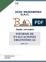 Informe Ergonomia Barring Antamina 2017