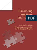 Eliminating Measles and Rubella Framework for the Verification Process in the WHO European Region