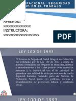 Curso Salud ocupacional - Sofia plues - Tres Leyes o Decretos Empresa ISSAL Ltda