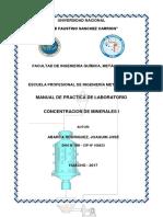 Practica de Concentracion de Minerales i2017