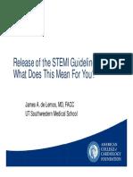 04.26.13 -  Release of the STEMI Guidelines_de Lemos