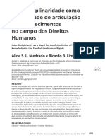 Interdiciplinalidade e Direito Humanos