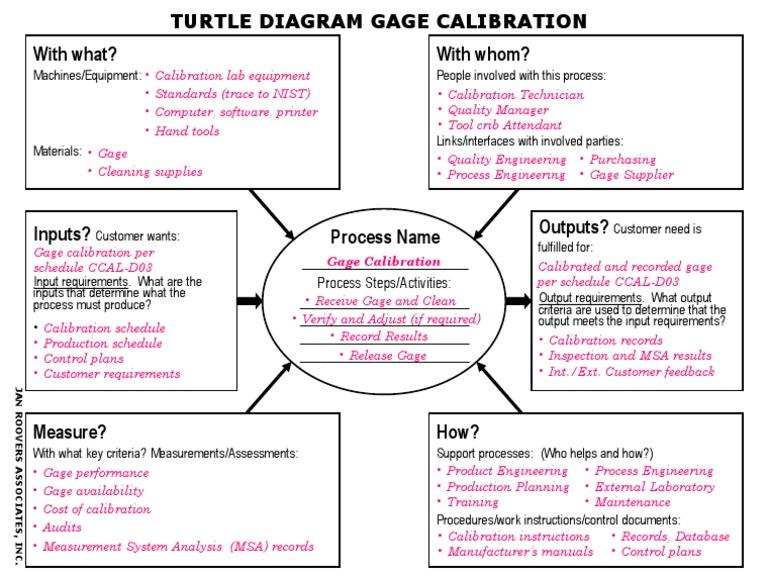 turtle diagram (calibration) calibration industries Sea Turtle Diagram