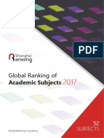 Global Ranking of Academic Subjects 20171110
