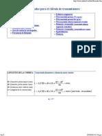 Formulas Para El Calculo de Transmision