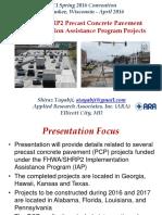 Tayabji - ACI Milwaukee -FHWA-SHRP2 Precast Pavement IAP Projects - 041616