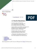 A Charles Baudelaire - Paul VERLAINE