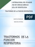 Trastornos de La Funcion Respiratoria-medicina Interna