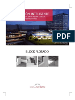 Folleto - Muro Flotado Con Block