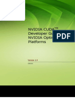 CUDA Developer Guide for Optimus Platforms