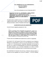 Tribunal ordena al Congreso enviar a promulgación las Circunscripciones de Paz