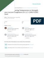 EffectofTemperingTemperatureonStrengthandFractureToughness MSF.710 2012 433 438