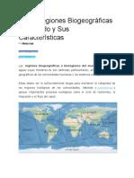 Las 8 Regiones Biogeográficas Del Mundo y Sus Características