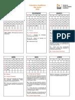 Calendario UFSCAR 2018