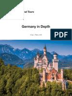germany 2018 - itinerary