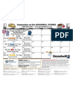 Goodwill's Updated Sept. Retail Calendar