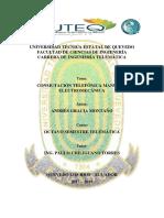 Conmutación Telefónica Manual y Electromecánica