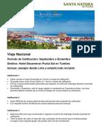 Calificación Viaje Punta Sal 2017 1