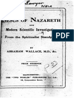 1920 Wallace Jesus of Nazareth and Modern Scientific Investigation 2ed