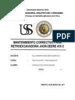 Manteniemito de Retroexcavadora Jhon Deere(Sistema de Dirección)