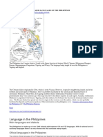 Major Languages of the Philippines