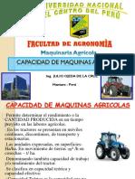 Capacidad de Maquinas Agricolas