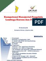 Materi Kompetensi Manajerial Pengelola LKP