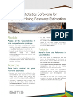 Geovariances Geostats Software for Improved Resource Estimation