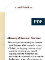 How to Teach Fractions