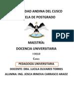 PEDAGOGIA UNIVERSITARIA