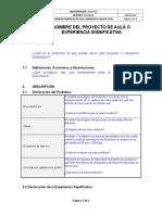 Proyecto de Aula- Experiencia Significativa