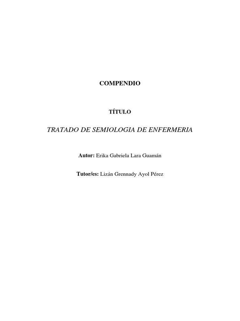 Tratado de Semiologia en Enfermeria